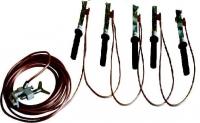 Испытание - заземления переносного до 1000 вольт повышенным напряжением.