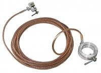 Испытание - переносного заземления с одной штангой выше 1000 вольт повышенным напряжением.