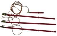 Испытание - переносного заземления с тремя или четырьмя штангами выше 1000 вольт повышенным напряжением.